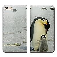 (ティアラ) Tiara Disney Mobile SH-02G スマホケース 手帳型 ベルトなし どうぶつ 動物 ペンギン 手帳ケース カバー バンドなし マグネット式 バンドレス EB252040072105