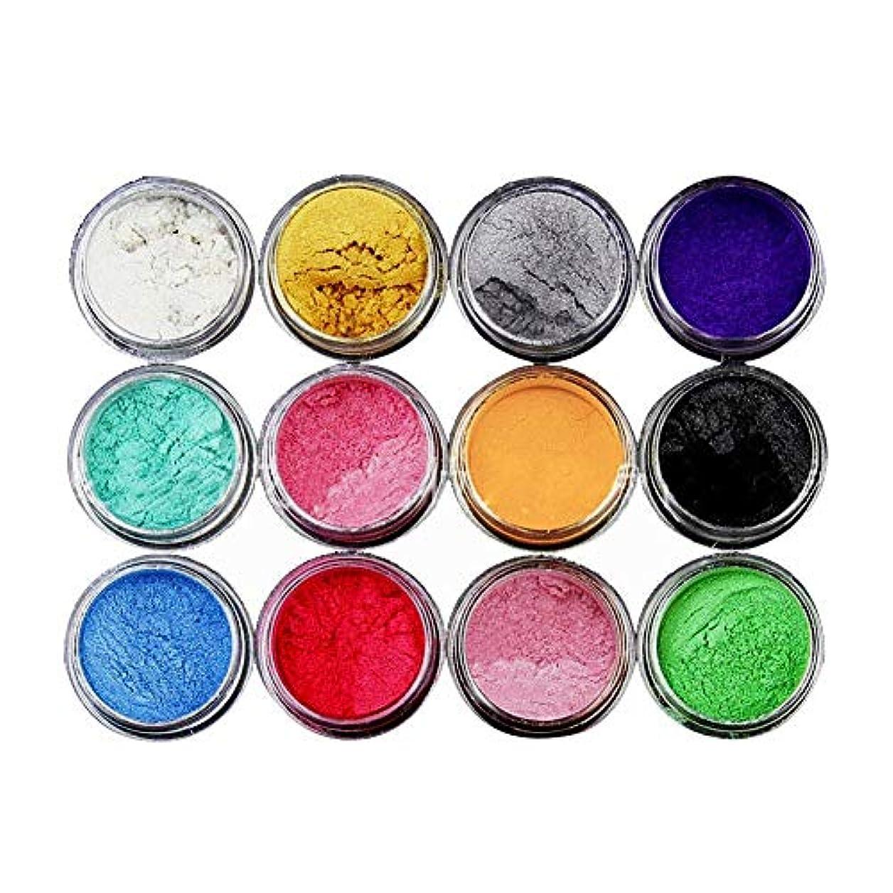溶かす谷模索BETTER YOU (ベター ュー) ネイルオーナメント/ 12色パールパウダー/リン/アイシャドウパウダー/DIYスライム素材ボックス