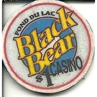 $ 1 fond du LacブラックBearカジノチップMinnesota画像