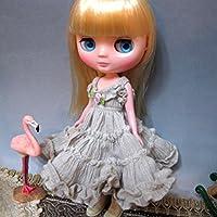 (ドーリア)Dollia ミディブライス アウトフィット ベージュ フリルスリップドレス デザイン 服 ブライス ドール 人形
