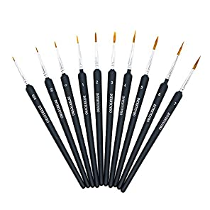 (インタートイボ) INTERTOYBO ペイントブラシ 面相筆 毛筆 ペイント 筆 ブラシ 10本 セット プラモデル フィギュア 塗装