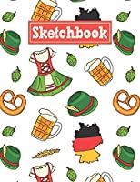 Sketchbook: 8.5 x 11 Notebook for Creative Drawing and Sketching Activities with Germany Themed Cover Design