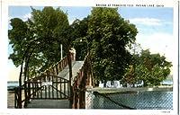 フォト再印刷Bridge At Paradise Isleオハイオ州、インド湖、1931–1940