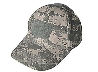 サバイバルゲーム ミリタリー タクティカル キャップ 帽子 マジックテープ付き ACU迷彩