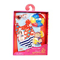 Our Generation Dolls Having A Ball Doll Swimsuit with Whales Outfit, 18 by Our Generation