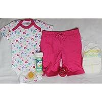 Reborn Baby Doll Girl Diaper Fake Formula Milk Bottle Pacifier Onesie Pants Outfit
