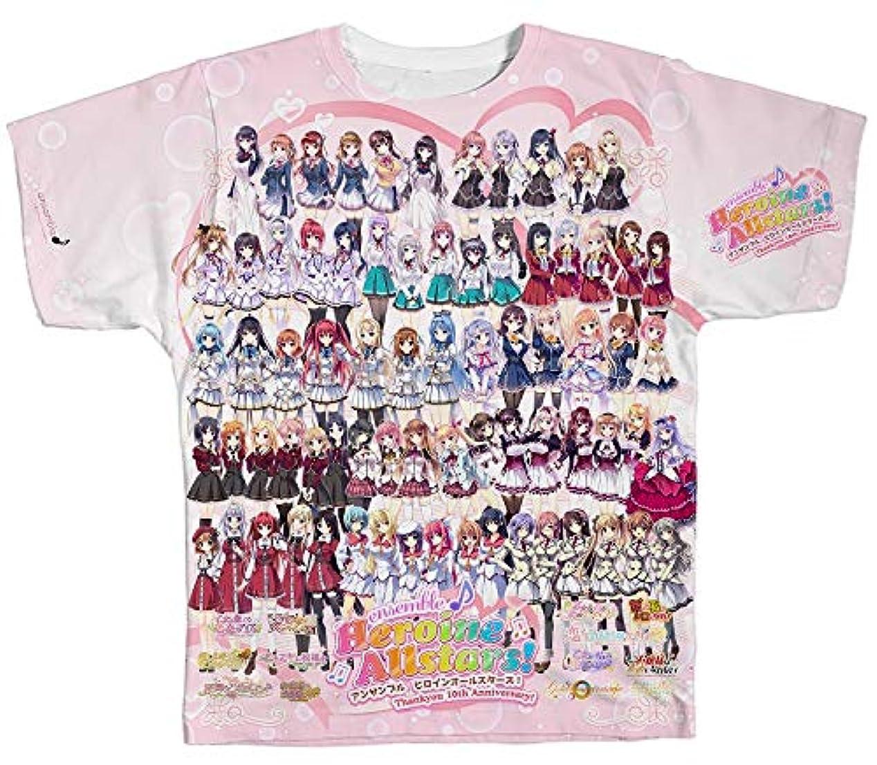 業界レディ摂動ensemble ヒロインオールスターズ フルグラフィックTシャツ Lサイズ【グッズ】