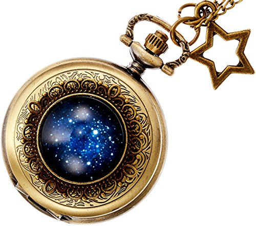 【リトルマジック】日本メーカー製クオーツ 星座 文字盤 懐中時計 レディース 時計 ネックレス 星 アクセサリー ナースウォッチ