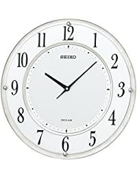 セイコー クロック 掛け時計 SOLAR+ ソーラープラス 電波 アナログ 薄型 白マーブル 模様 SF506W SEIKO