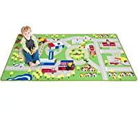 [プレイプラトゥーン]Play Platoon Kids Play Car Rug Community Carpet Mat Large, 78 x 39 PP-RUGL [並行輸入品]