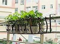 ヨーロッパの錬鉄製の手すりの窓の敷居バルコニー手すりの花壇 (色 : B)
