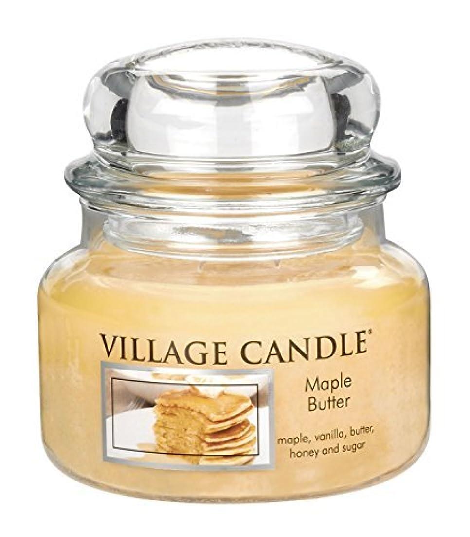 電球投票ベアリングサークルVillage Candle Maple Butter 11 oz Glass Jar Scented Candle Small [並行輸入品]