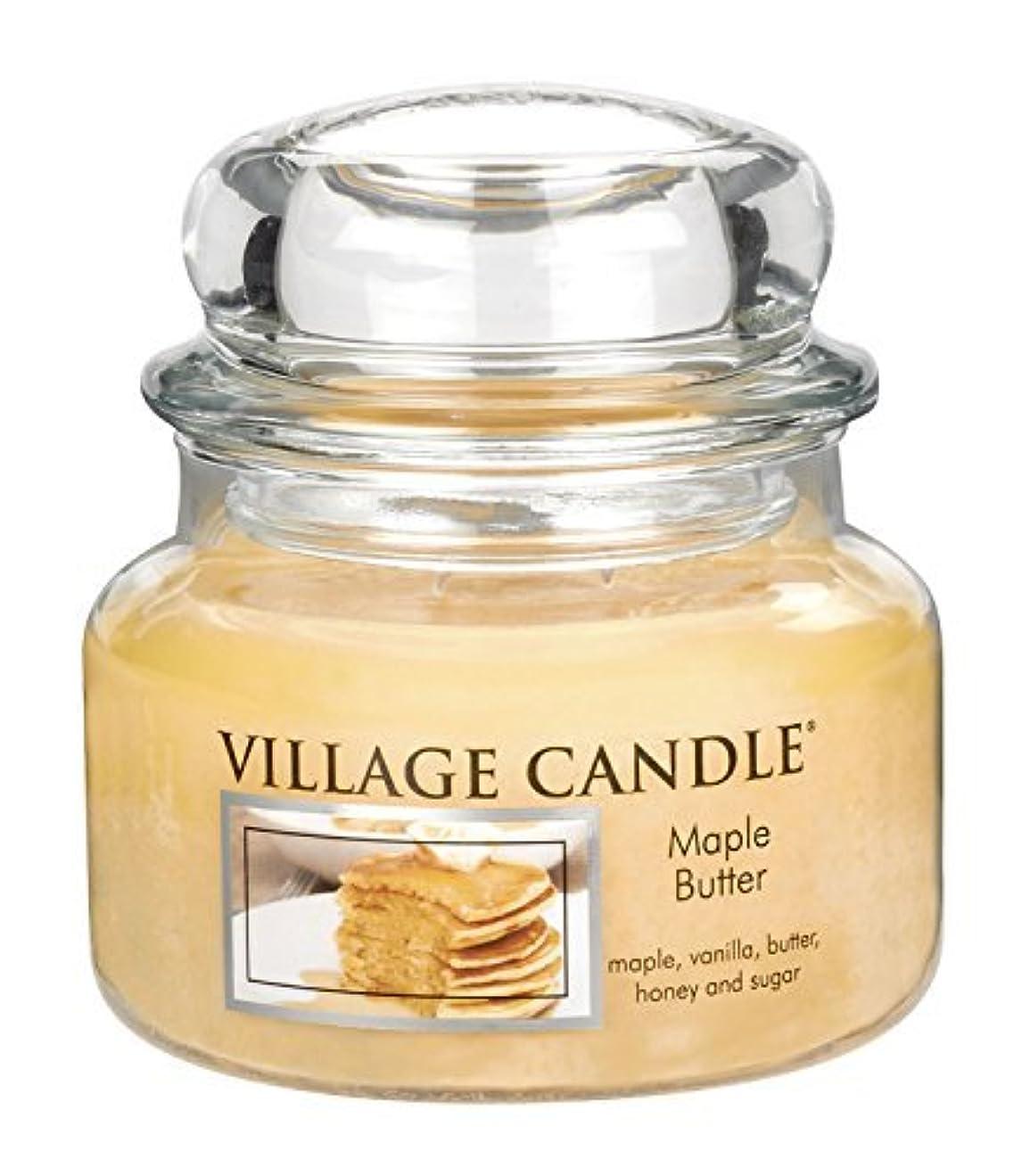 飾り羽キャンバス他の日Village Candle Maple Butter 11 oz Glass Jar Scented Candle Small [並行輸入品]