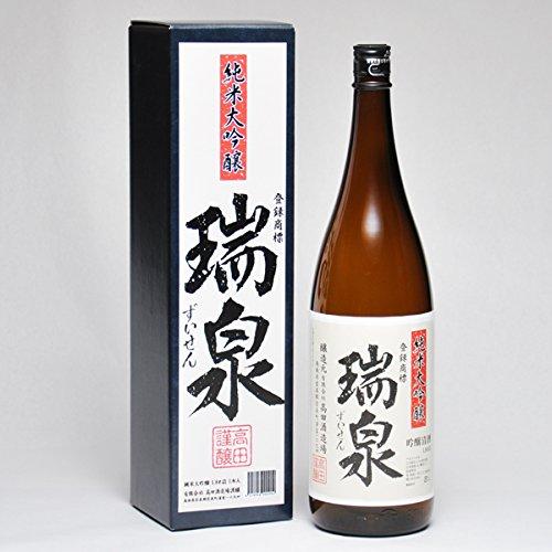 瑞泉 純米大吟醸 1800ml 日本酒 鳥取 地酒