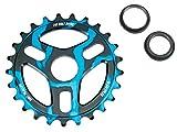 【BMXスプロケット】SALTPLUS / TRIDENT SPROCKET / 25T (BLACK-CYAN ACID DRIP)