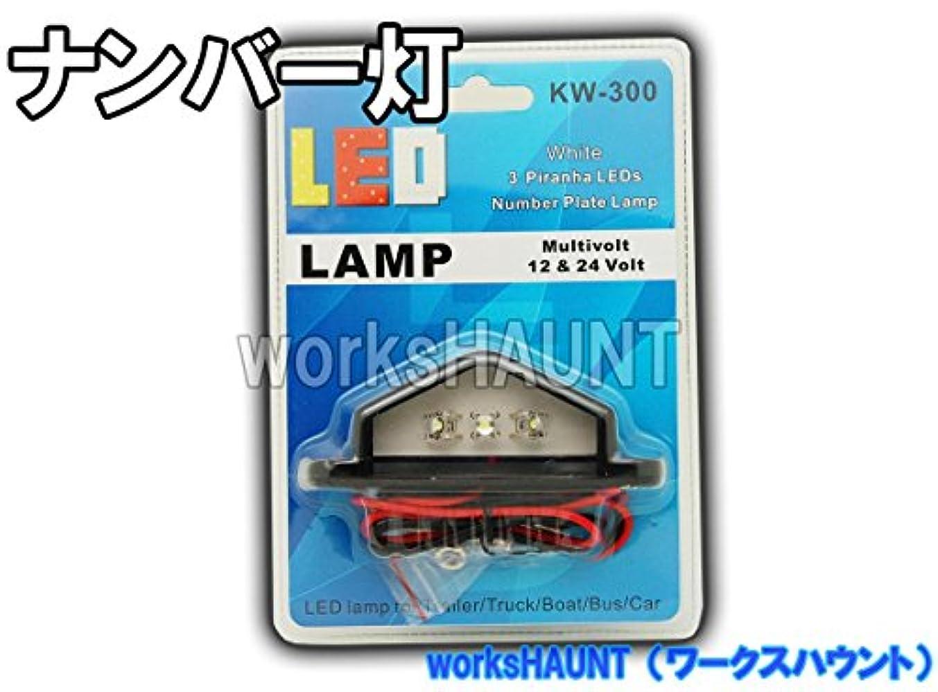なに金銭的強度LED ナンバー灯 汎用 防水 12V 24V トレーラー