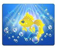 マウスパッドゲーミングマウスパッド天然ゴムマウスマット美しい金魚泳ぐ水中の気泡M0A00544
