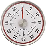 ACCURA Mechanical Kitchen Timer 60 Minute with Magnetic Back - Red