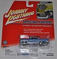 1957 Lincoln Premiere (Blue) - American Chrome - Johnny Lightning - Diecast Car [並行輸入品]