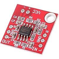 Fenteer アンプ基板 TDA1308 プリアンプ ヘッドフォン 3V-6V モジュール ステレオ オーディオ