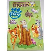 Disney 動物の塗り絵&アクティビティブック ステッカー付き