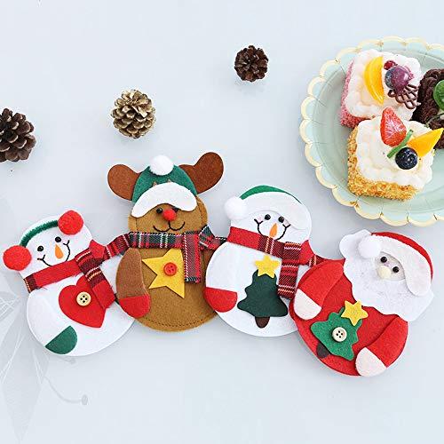 Minloor 4個セット クリスマス食器カバー カトラリー...
