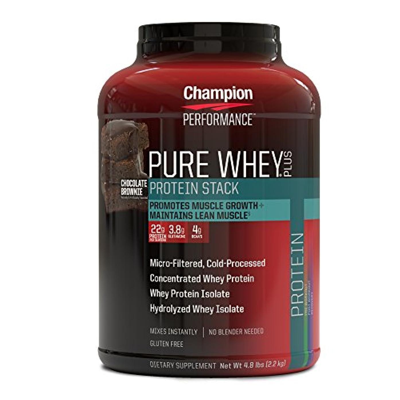 結果混乱させるシェーバー海外直送品 Pure Whey Plus Supplements, Chocolate Brownie 2.18kg