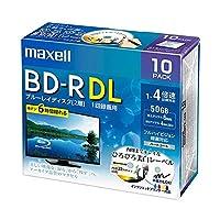 マクセル 録画用BD-R DL 260分1-4倍速 ホワイトワイドプリンタブル 5mmスリムケース BRV50WPE.10S 1パック(10枚) AV デジモノ パソコン 周辺機器 その他のパソコン 周辺機器 14067381 [並行輸入品]