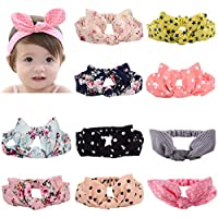 CHRISLZ Women's Headbands Floral Print Headwrap Twist Knot Hair Band Yoga Head Wraps Sports Elastic Turban