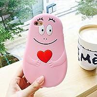 バーバパパ iphoneケース シリコン (iphone7, ピンク)