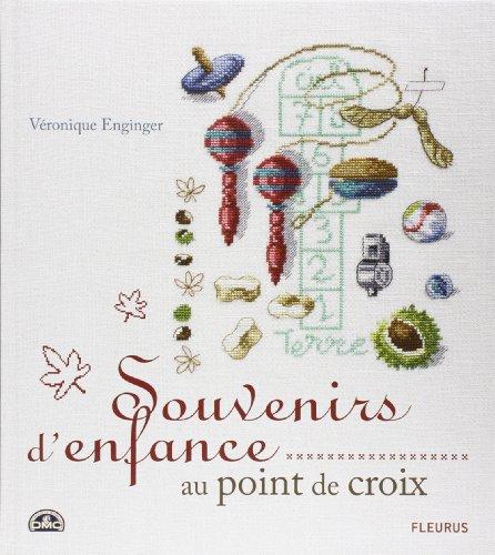 FLEURUS 「Souvenirs Denfance au point de croix」 クロスステッチ図案集-フランス語
