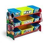 ディズニー ミッキーマウス デラックス 9ビン おもちゃ箱 【84412】 [並行輸入品]