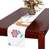 GGSXD テーブルランナー 足の長いキリン クロス 食卓カバー 麻綿製 欧米 おしゃれ 16 Inch X 72 Inch (40cm X 182cm) キッチン ダイニング ホーム デコレーション モダン リビング 洗える