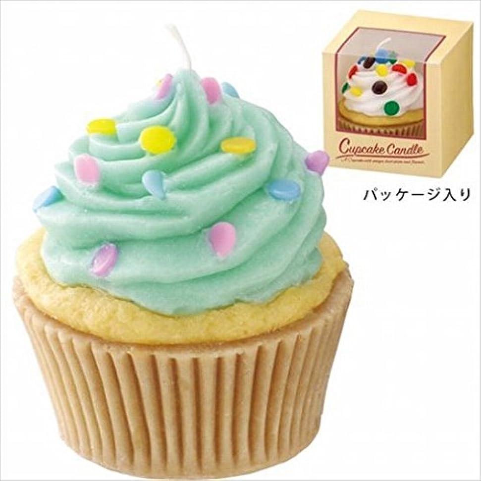りんご実験をする毎年カメヤマキャンドル(kameyama candle) アメリカンカップケーキキャンドル 「 ミントクリーム 」