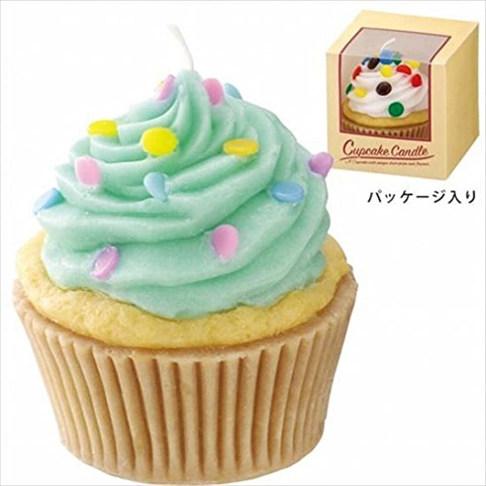 悪性デマンド形状カメヤマキャンドル(kameyama candle) アメリカンカップケーキキャンドル 「 ミントクリーム 」