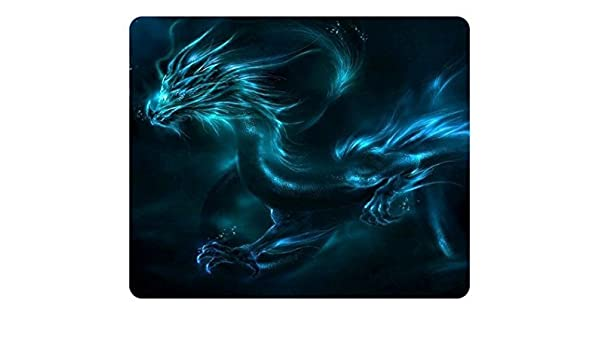 1 X Gaming Mouse Pad Customized Natural Eco Rubber Mousepad Cyan Dragon Oblong Mouse Pad
