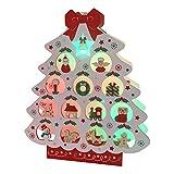 サンリオ クリスマスカード 洋風 ライト&メロディ ポップアップ 木製白地ツリー S7315