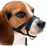 MEGICOT Dog Muzzle, Adjustable Loop with Soft Padding, Prevent from Biting, Barking and Chewing, Perfect for Medium and Large Dogs, Nylon