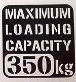 【w-020-350】【3】【黒】【10cm x 10cm】最大積載量350kg 英語表記ステンシルカッティングステッカー