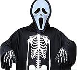 (ボリショーイ)ゴースト スケルトン スーツ 3点 セット 男性 用 ホラー コスチューム ハロウィーン 仮装 コスプレ 3種 (スクリーム)