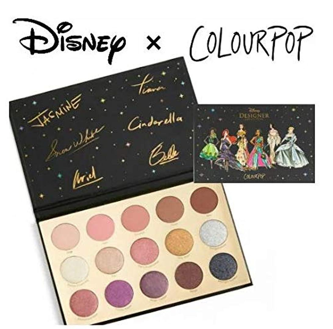 ティームなしでマダムディズニーデザイナーコレクション カラーポップ COLOURPOP x DISNEYプリンセス アイシャドウパレット 15色