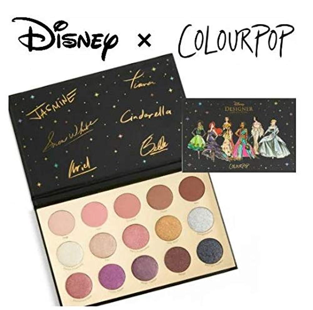 経験こする演じるディズニーデザイナーコレクション カラーポップ COLOURPOP x DISNEYプリンセス アイシャドウパレット 15色