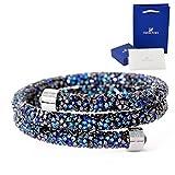 スワロフスキー SWAROVSKI バングル Crystaldust Double 5255903 アクセサリー ショップバッグ付 (ブルー)