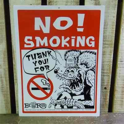 ラットフィンク NO SMOKING(Rat Fink メッセージボード:ノー スモーキング)