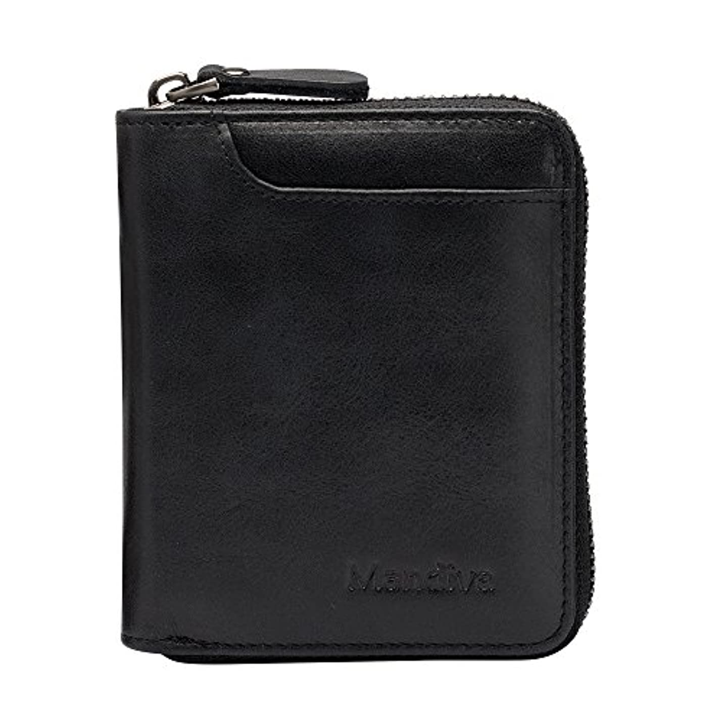 何でも災害レースMandiva 財布 カードケース 本革 メンズ 軽量小銭入れ コンパクト ラウンドファスナー