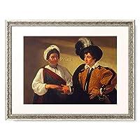 ミケランジェロ・メリージ・ダ・カラヴァッジョ Michelangelo Merisi da Caravaggio 「女占い師(ジプシー女) The Fortune Teller. Ca. 1595-1600」 額装アート作品