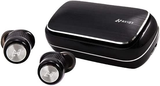 AVIOT TE-BD21f トゥルーワイヤレスイヤホン 完全ワイヤレス Bluetoothイヤホン iPhone アンドロイド SBC AAC aptX 対応 防水 IPX5 通話 最大7時間 イヤーピース S/M/L SpinFit CP355 SS/S/M 付属 (ブラック)