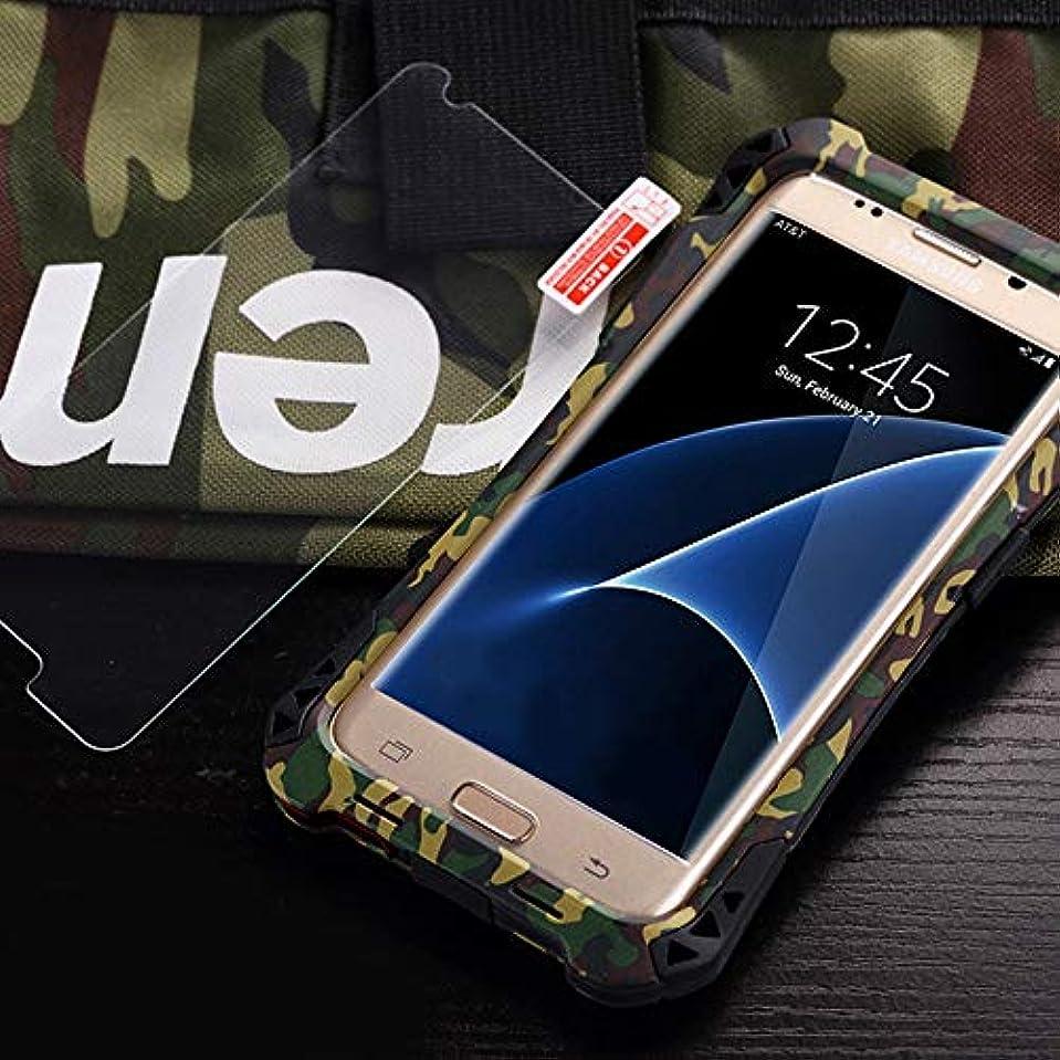 フレキシブル潮腰Tonglilili 電話箱、Samsung S7、S7の端のための防水箱の金属の電話箱の表面3の保護カバーの電話箱 (Color : Camouflage, Edition : S7)