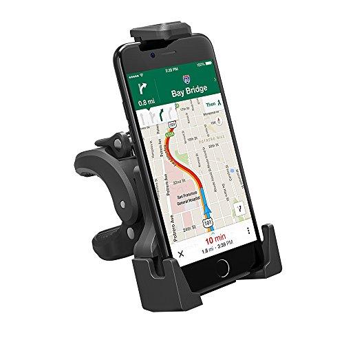 TaoTronics 自転車ホルダー スマホホルダー バイクスタンド GPS ナビ 3角形フレーム TPE 防水コーティング付 片手で装着 多機種 360度回転 自転車 スマホ バイク ベビーカーにも適用 TT-SH005