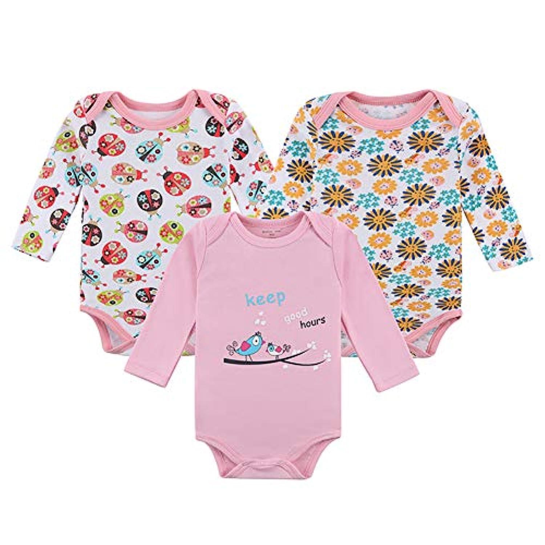 フェミニス ベビー服 3枚セット おすすめ ロンパース 肌着 いつまで 女の子 男の子 新生児 肌着セット 半袖 カバーオール 伸縮 吸湿 コットン 綿100%3M 6M 9M 12M お食い初め 韓国風 人気